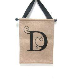 Monogram Door Banner Letter D