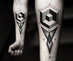 20 Stunningly Intricate #Geometric #Tattoos http://alterminds.xyz/20-stunningly-intricate-geometric-tattoos