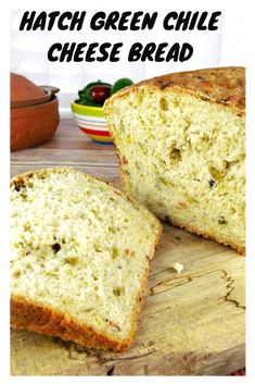 Hatch Green Chile Cheese Bread is the most popular of our Hatch Green Chile Recipes. Hatch Green Chili Recipe, Green Chili Recipes, Mexican Food Recipes, Hatch Chili, Bread Machine Recipes, Bread Recipes, Cooking Recipes, Muffin Recipes, Cooking Tips