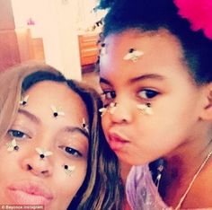 Beyoncé & Blue Ivy wishing everyone a 'Happy Valentines Day' #regram @beyonce #queenbee  Sourced: Dailymail.co.uk