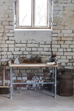 Ruokapöydän runko - planting table - pipe table - putkihuonekalu - putkipöytä - istutuspöytä - Domus Classica verkkokauppa