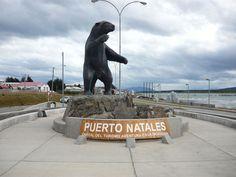 puerto Natales! homenaje al Milodon - Patagonia - SUR AMERICA