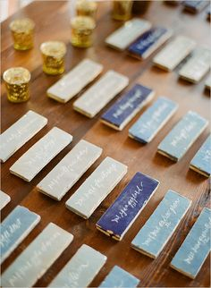 Wedding escort cards don't have to just be practical! We rounded up our favorite unique ideas for your seating assignments. From elegant floral cards to fun favors, here are some inspired ways to get wedding guests to their tables Wedding Reception Seating, Card Table Wedding, Seating Chart Wedding, Wedding Place Cards, Wedding Party Favors, Wedding Souvenir, Nantucket Wedding, Seaside Wedding, Nautical Wedding