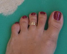 Toe Ring Knuckle Ring Spirals Toe Ring by MYJewelryEtsyShop