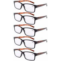 0b2961782c0 Eyekepper Spring Hinge Plastic Reading Glasses (5 Pack) Includes Sunglass  Readers Women