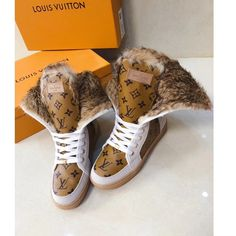 Women's Designer Boots for 2019 - Goteo Lv Sneakers, Louis Vuitton Shoes Sneakers, Lv Boots, Rain Boots, Womens Fall Boots, Louis Vuitton Boots, Fashion Boots, Fashion Outfits, Thing 1