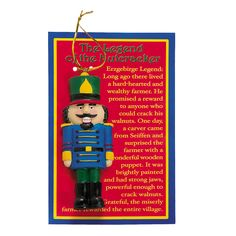 """Learn the old-world story behind the symbolism of the nutcracker with this colorful nutcracker Christmas ornament. The """"Legend Of The Nutcracker. Christmas Poems, Christmas Gifts For Friends, Christmas Activities, A Christmas Story, Christmas Printables, Christmas Balls, Christmas Traditions, All Things Christmas, Christmas Tree Ornaments"""