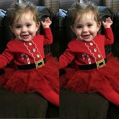 Новый красный санта осень зима xma Милый Принцесса Малышей младенческой новорожденных Девочка Тюль Юбки Платье Партии Костюмы Костюм купить на AliExpress