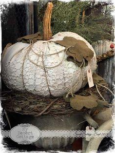 **My Desert Cottage**: Sweet Salvage- Rustic Remains Velvet Pumpkins, Fabric Pumpkins, White Pumpkins, Fall Pumpkins, Sweater Pumpkins, Halloween Shadow Box, Fall Halloween, Halloween Crafts, Halloween Ideas