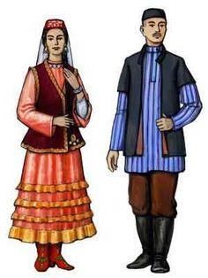 Описание женского татарского костюма девушки