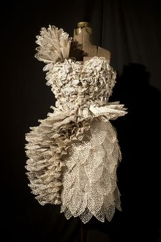 "Carrie Ann Schumacher, 2011, ""Harlequin,"" a paper dress made from romance novels"
