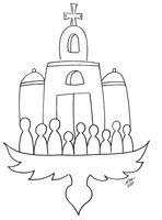 Dibujo para colorear. El #EspírituSanto y la Iglesia. www.evangelizacioncatolica.org