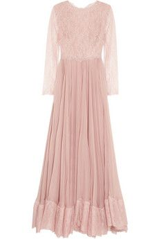 Valentino Lace and silk gown NET-A-PORTER.COM