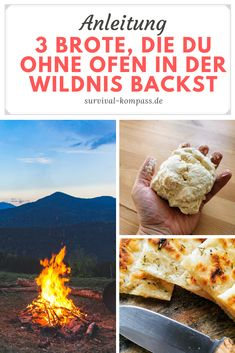Baking bread in the wild without an oven? That's fine. In the article you will learn how …, … – Schonkost Baking Recipes, Snack Recipes, Bushcraft Camping, Camping Survival, Survival Skills, Camping Meals, Tent Camping, Four, Food Menu