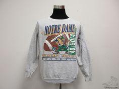 Vtg 90s TNT Notre Dame ND Fighting Irish Crewneck Sweatshirt sz XL Extra Large #TNT #NotreDameFightingIrish