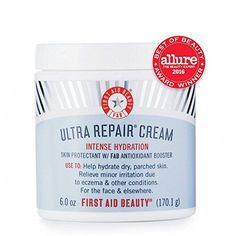 First Aid Beauty Ultra Repair Cream Intense Hydration, 6 oz : Body Skin Care Products : Beauty Skin Care Regimen, Skin Care Tips, Organic Face Moisturizer, Homemade Moisturizer, First Aid Beauty, Best Face Products, Skin Products, Beauty Products, Amazon Products