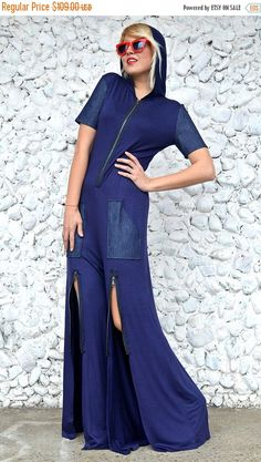 Just in: SALE Extravagant Navy Jumpsuit, Loose Hooded Jumpsuit, Navy Denim Jumpsuit with Hoodie TJ27, Navy Cropped Jumpsuit by TEYXO https://www.etsy.com/listing/495080828/sale-extravagant-navy-jumpsuit-loose?utm_campaign=crowdfire&utm_content=crowdfire&utm_medium=social&utm_source=pinterest