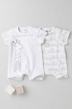 Buy Two Pack Giraffe Romper (0-18mths) online today at Next: Greece