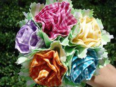 Minhas flores de tecido