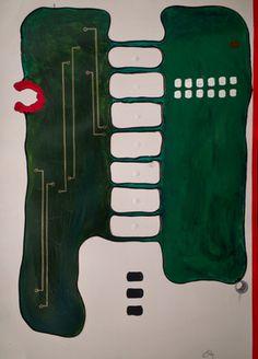 "Saatchi Online Artist ABBA ARTIST; Painting, ""End Stop"" #art"