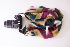 DSLR Camera Strap  Maroon and Teal Chevron by ImaniStudio on Etsy