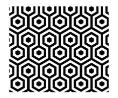 Behang Hexagono wit en zwart