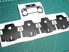 Sticker Decal For DJI MAVIC Battery+REMOTE black Carbon Fiber Skin