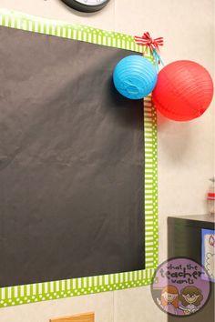 Blog Hoppin': Chalkboard Bulletin Boards- Looks like chalkboards