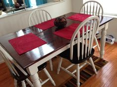 Now our mismatched Kitchen and Chairs match and they look like a million bucks!