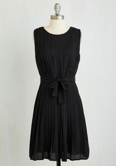 Don't Miss a Pleat Dress. You deem a night in the big city the perfect opp to sport this LBD. #black #modcloth