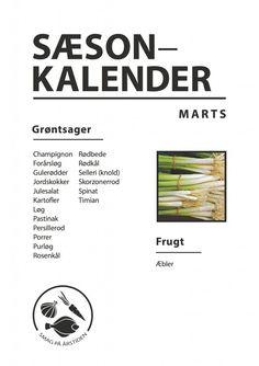 Sæsonkalender Marts | Smag På Årstiden