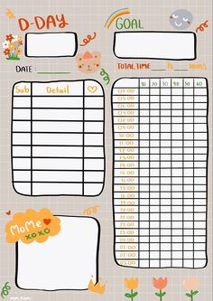 Daily Planner Pages, Study Planner, Bullet Journal Writing, Bullet Journal Ideas Pages, Memo Notepad, Note Doodles, Vie Motivation, Good Notes, Journal Stickers
