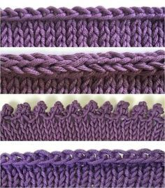 Conquer four different bind-offs (and learn when to use each one) with these detailed photo tutorials from knitting expert Terry Matz. Conquer four different bind-offs.How to Bind Off 4 Different Ways. Picot: cast on bind off To Have An Optimal Ar Knitting Help, Knitting Stitches, Knitting Patterns Free, Knitting Yarn, Knit Patterns, Hand Knitting, Bind Off Knitting, Stitch Patterns, Round Loom Knitting