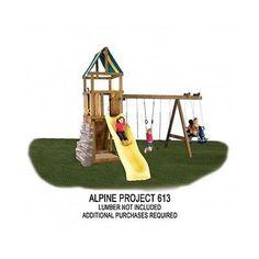 21 Best Wooden Swing Set Plans Images Backyard