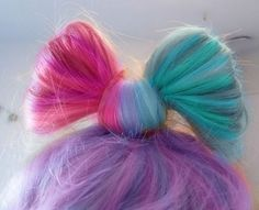Now that looks cool Creepy, Coloured Hair, Rainbow Hair, Rainbow Bow, Favim, About Hair, Looks Cool, Hair Dos, Pretty Hairstyles