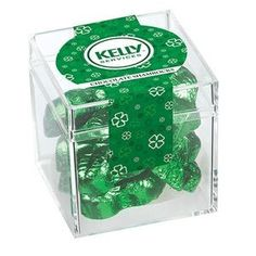 Signature Cube Collection w/ Chocolate Shamrocks - Customize Logo