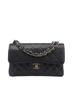 Chanel 2.55 Navy Blue Caviar Quilted Leather Shoulder Bag