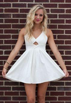American Threads - White Cutout Dress