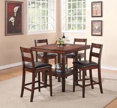 Cora 5pc Pub Set . . . #furniture #homedecor #interiordesign #design #decor #home #living #office #family #entertainment #luxury #affordable #sale #discount #freeshipping #canada #toronto #usa #america #fashion #design #bedroom #comfort #happy #style #rest #relax #dinner #dine #food