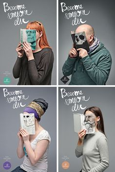 Become Somebody Else: a series of photos using hardback books in a unique way