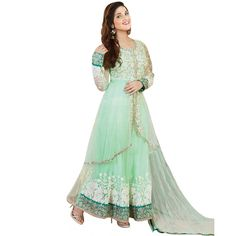World's Most Selling Light Rama Green Embroidary Attractive Salvar Suit