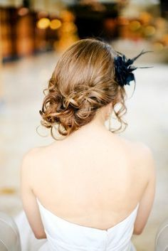 Love the hair for a wedding updo