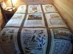 """my second """"Tea Towel"""" quilt.  Fun to make :)"""