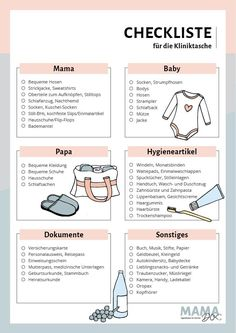 Checklist for childbirth: Packing list clinic bag - Schwanger? - Pregnant Tips Baby Love Quotes, Quotes For Kids, Family Quotes, Baby Room Boy, Baby Blog, Clinique, First Trimester, Baby Hacks, Bob Marley
