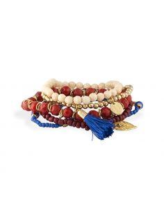 Set de 5 bracelets perles multicolore   Bala Boosté