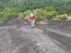 Climbing the Voltzerg 240 m high