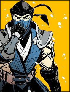 Kuai liang (Sub-Zero) Sub Zero Mortal Kombat, Mortal Kombat Scorpion, Mortal Kombat Games, Mortal Kombat Art, Video Game Art, Video Games, Game Character, Character Design, Noob Saibot