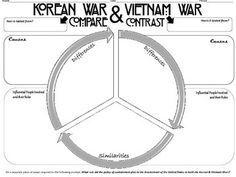 Worksheets Korean War Worksheet korean war graphics and on pinterest vietnam compare contrast graphic organizer