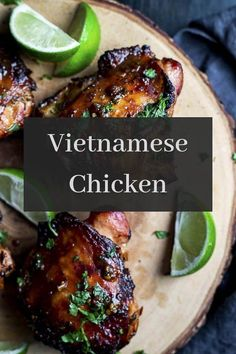 This Vietnamese Chicken is marinaded with fish sauce, soy sauce, garlic, lemongrass and chilies for a chicken recipe that packs a punch of . Vietnamese Cuisine, Vietnamese Recipes, Asian Recipes, Healthy Recipes, Ethnic Recipes, Yummy Recipes, Recipies, Lemon Grass Chicken, Frango Chicken