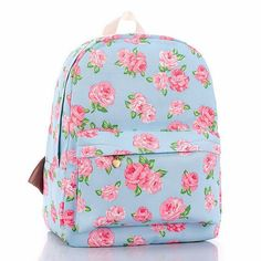 2015 New Printing backpacks Rose floral Cute school bags for women/ teenage girls rucksack laptop Canvas backpack female D10 47-in Backpacks from Luggage & Bags on Aliexpress.com | Alibaba Group